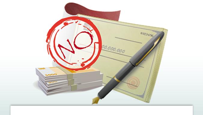 Resultado de imagen para no exigir cheque